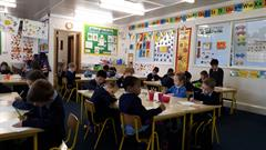 Room 9 are enjoying art time!