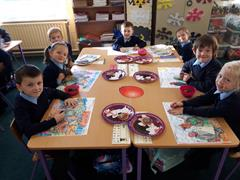 Room 3 made yummy spider biscuits!