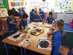 Room 3 painting our favourite animals during playtime!